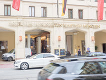 Four seasons Kempinski munich. Hotel on a busy day Royalty Free Stock Images