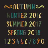 Four seasons lettering Stock Image