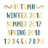 Four seasons lettering Stock Photos