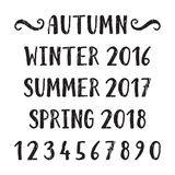 Four seasons lettering Royalty Free Stock Photography
