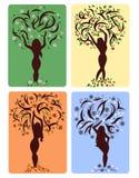 Four seasons like girls Royalty Free Stock Image