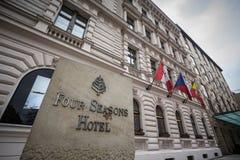 Free Four Seasons Logo On Their Main Hotel In Prague. Royalty Free Stock Photo - 181271865