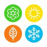 Four seasons logo set vector illustration