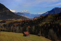 Four seasons in one moment - Austria royalty free stock photo