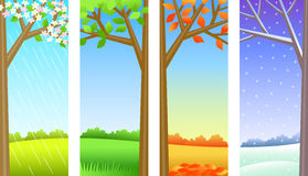 Four Seasons Panels/eps Stock Images
