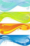 Four seasons patterns in different colors stock illustration