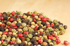 Four seasons pepper grains Royalty Free Stock Photo