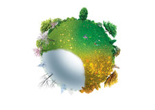 FOUR SEASONS OF PLANET EARTH. Illustration of four seasons on planet Earth Royalty Free Stock Photography