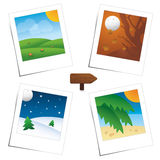 Four Seasons polaroid's scenes Royalty Free Stock Image