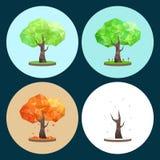 Four Seasons Polygonal Απεικόνιση αποθεμάτων