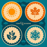 Four seasons poster design stock illustration