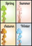 Four seasons. Religion theme illustration stock illustration