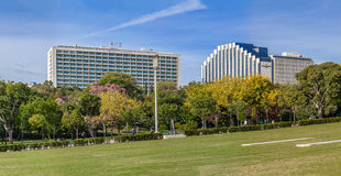 The Four Seasons Ritz left and the Intercontinental right Hotels. Royalty Free Stock Image