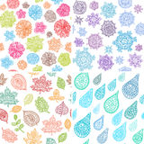 Four Seasons Seamless Pattern Royalty Free Stock Images