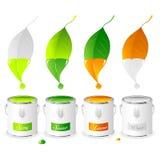 Four Seasons - Set 01 - Paint Tins stock illustration