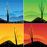 Four seasons set. Royalty Free Stock Photos