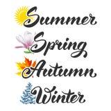 Four seasons Royalty Free Stock Photos