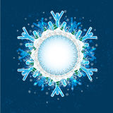 Four seasons: Shield 1 – Winter (Set of 4 seasonal shields) Royalty Free Stock Images