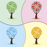Four Seasons. Spring, Summer, Autumn, Winter. Stock Photography