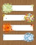 Four seasons. spring, summer, autumn, winter royalty free illustration
