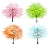 Four seasons - spring, summer, autumn, winter. Royalty Free Stock Photo