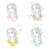 Four seasons - spring, summer, autumn, winter. Stock Image
