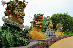 Four Seasons Statues Stock Photo