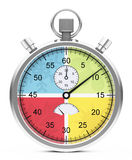 The four seasons stopwatch. Illustration of a four seasons stopwatch stock illustration