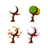 Four seasons stylized Stock Photos