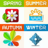 Four Seasons Symbols Royalty Free Stock Photos