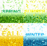Four seasons (Text serie) Royalty Free Stock Photos