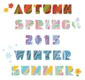 Four Seasons Titles Royalty Free Stock Image