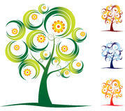 Four seasons tree set Royalty Free Stock Image