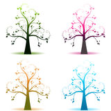 Four seasons trees Royalty Free Stock Photo