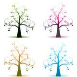 Four seasons trees royalty free stock photo