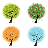 Four seasons trees Royalty Free Stock Photos