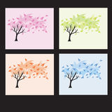 Four seasons trees Stock Image