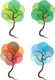 Four seasons trees illustration Stock Images