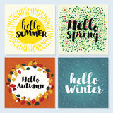 Four Seasons Typographic Banner Royalty Free Stock Images