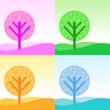 Four seasons Vector Stock Photography