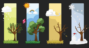 Four Seasons Vector Royalty Free Stock Photo