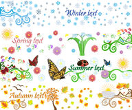 Four seasons vector background. Four seasons vector banners on white background Vector Illustration
