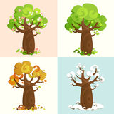 Four Seasons. Vector illustration of Four Seasons Stock Photo