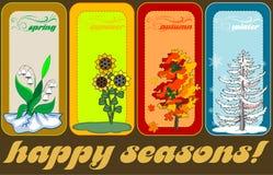 Four seasons vector illustration Stock Photos