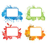 Four seasons, vector illustration Royalty Free Stock Photos