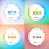 Four Seasons vector set Stock Image