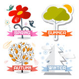 Four Seasons Vector Symbols Royalty Free Stock Image