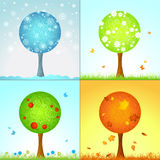 Four seasons. Royalty Free Stock Images