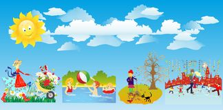 Four seasons of the year Royalty Free Stock Image