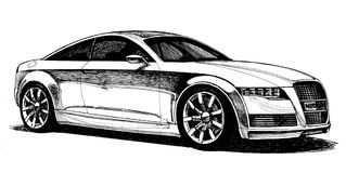 Four-seater stylish urban car Stock Image